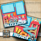Disney Blizzard Beach water park 2 premade scrapbook pages paper by digiscrap