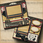 Dressed Up prom dance 2 premade scrapbook pages wedding paper digiscrap A0020