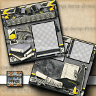 Graduation Girl 2 premade scrapbook pages layout printed paper piecing digiscrap