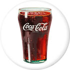 Coca Cola Bell Glass Disc White Removable Wall Decal Button Style