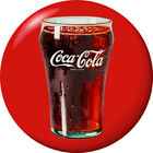 Coca Cola Bell Glass Disc Red Removable Wall Decal Button Style