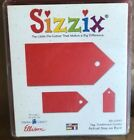 Sizzix Original Red TAG TRADITIONAL COMBO Scrapbooking Die 38 0943 w Case