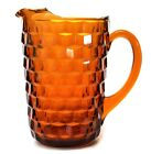 Colony Whitehall Amber Pitcher Stacked Cube Indiana Glass 8 1/2