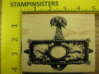 Rubber Stamp Palm Tree  Snake Design Stampers Anonymous Stampinsisters 1778