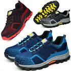 Mens Hiking Outdoor Shoes Cap Safety Steel Toe Work Shoes Sneakers Boots 01
