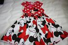 NWT MINNIE MOUSE CAP SLEEVE COTTON DRESS SIZE 5 6 NEW