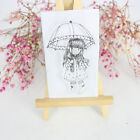KS Crafts Umbrella Girl Clear Cling Rubber Stamp