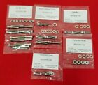 YAMAHA 1979-1992 QT50 1981-2008 PW50 POLISHED STAINLESS ENGINE BOLT KIT SET