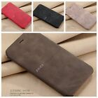 Real Genuine Leather Flip Wallet Slim Case Cover For New iPhone 6 7 8 5 PLUS X
