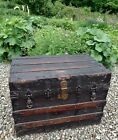 B. Allegheny PA 1880s Flat Top Travel Chest