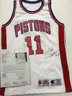 Isiah Thomas 1994-95 Signed Authentic Team Game Jersey Champion Pistons