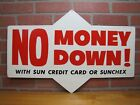 Original SUNOCO Gas Station Double Sided Sign $9.95 6.70x15 Black Tube Type Tire