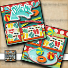DIVE IN POOL 2 premade scrapbook pages paper piecing layout printed BY DIGISCRAP