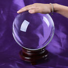 LONGWIN Clear Crystal Glass Ball Sphere Paperweight Photo Props Free Stand 200mm