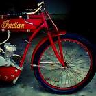 Board track racer tribute DIY vintage MOTORCYCLE motorized BICYCLE indian cafe