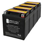 Mighty Max YTX7L-BS Battery Replacement for Malaguti X3M Motard 125 08 - 4 Pack