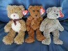 Lot of 3 Ty teddy bear Harry, Hawthorne, and Beary Much Beanie Babies Baby MWMT