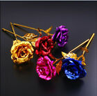 Multi Color Gold Plated Rose Flower Romantic Valentines Day Mothers Day Gifts