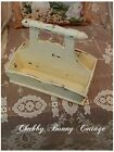 Shabby romantic cottage chic Cream distressed caddy