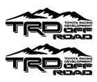 2x Trd Off Road 4x4 Toyota Racing Development Decal Sticker Tacoma Tundra Truck