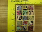 Rubber Stamp Paris Moments Hampton Art Faces Butterfly Stampinsisters 1062