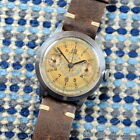 MARVIN VINTAGE CHRONOGRAPH 1940S VALJOUX 22 STAINLESS ORIGINAL DIAL PATINA 36MM