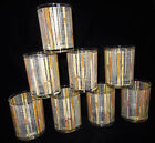 Vintage Mid Century Barware Cora Bamboo Double Old Fashioned/ Rocks Glasses 8