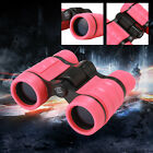 4X30 Pink Binoculars Vanfn Rubber Adjustable Mini Lightweight For Kids 3 10years