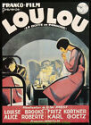 Pandoras Box aka LOULOU MOVIE POSTER 27x37 German Classic LOUISE BROOKS 1929