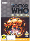 NEW DOCTOR WHO THE FIVE DOCTORS DVD TV SERIES SCI-FI SCIENCE FICTION ADVENTURE