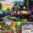 5D DIY Diamond Embroidery Painting Dream Cottage Art Craft Stitch Kit Home Decor