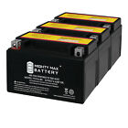 Mighty Max YTX7A BS Battery Replacement for MBK Flame 150CC 1984 2008 3 Pack