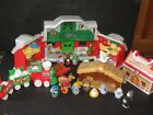 Fisher Price Little People XMAS North Pole Santas House Nativity Train Toy Lot