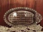 10 Inch Crystal Clear Glass Relish Tray Dish Vintage