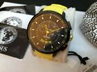 Versus by Versace Manhattan Chronograph Black Dial Yellow Rubber Men's Watch