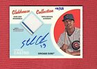 2012 TOPPS HERITAGE CLUBHOUSE COLLECTION REAL AUTOGRAPH RELIC STARLIN CASTRO 25