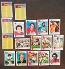 1973 Topps Football Lot of17 Different Riggins, Manning,Bubba ...