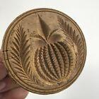 Antique AAFA Wood Butter Press Stamp With Carved Pineapple