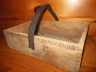 Vintage Wooden Handmade Toolbox / Carry Tote / High Explosives Box