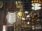 Huge Lot VTG Antique Door Hardware Knobs Pulls Knocker Handles BRASS!