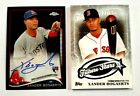 2014 Topps Chrome Rookie Black Refractor # 100 Xander Bogaerts Auto Card + Patch