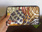 Vera Bradly  Accordion Wallet Painted Feathers
