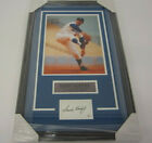 Sandy Koufax Los Angeles Dodgers signed framed matted index card w 11x14 COA