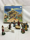 9 Piece Vintage Nativity Figurines Marked Italy