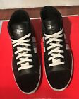 BIKKEMBERGS BKE108266 Black Leather Mid Top Sneakers Size US12