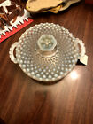 Vintage Anchor Hocking Moonstone Hobnail Covered Bowl 6