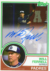 2015 Topps Archives Will Ferrell Autograph Anchorman San Diego Padres # 10