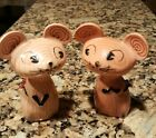 VTG HOLT HOWARD MERRY MICE 1958 SALT PEPPER SHAKER PAIR OLD MID CENTURY