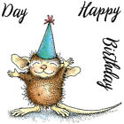 New Release House Mouse Happy Birthday Mini Clear Stamp Set