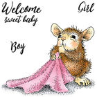 New Release House Mouse Sweet Baby Mini Clear Stamp Set